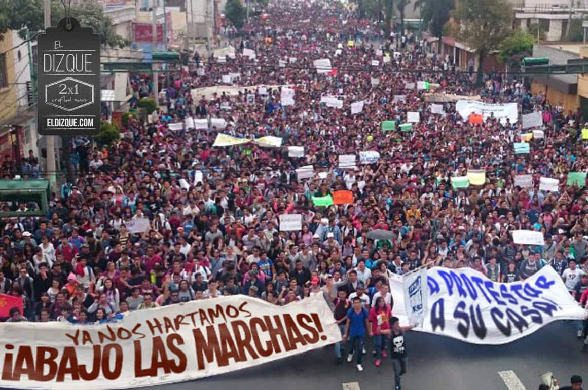 Convocan a una marcha para protestar contra las marchas 13