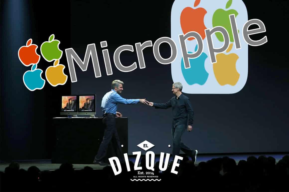 De la fusión de Microsoft y Apple, surge Micropple 4