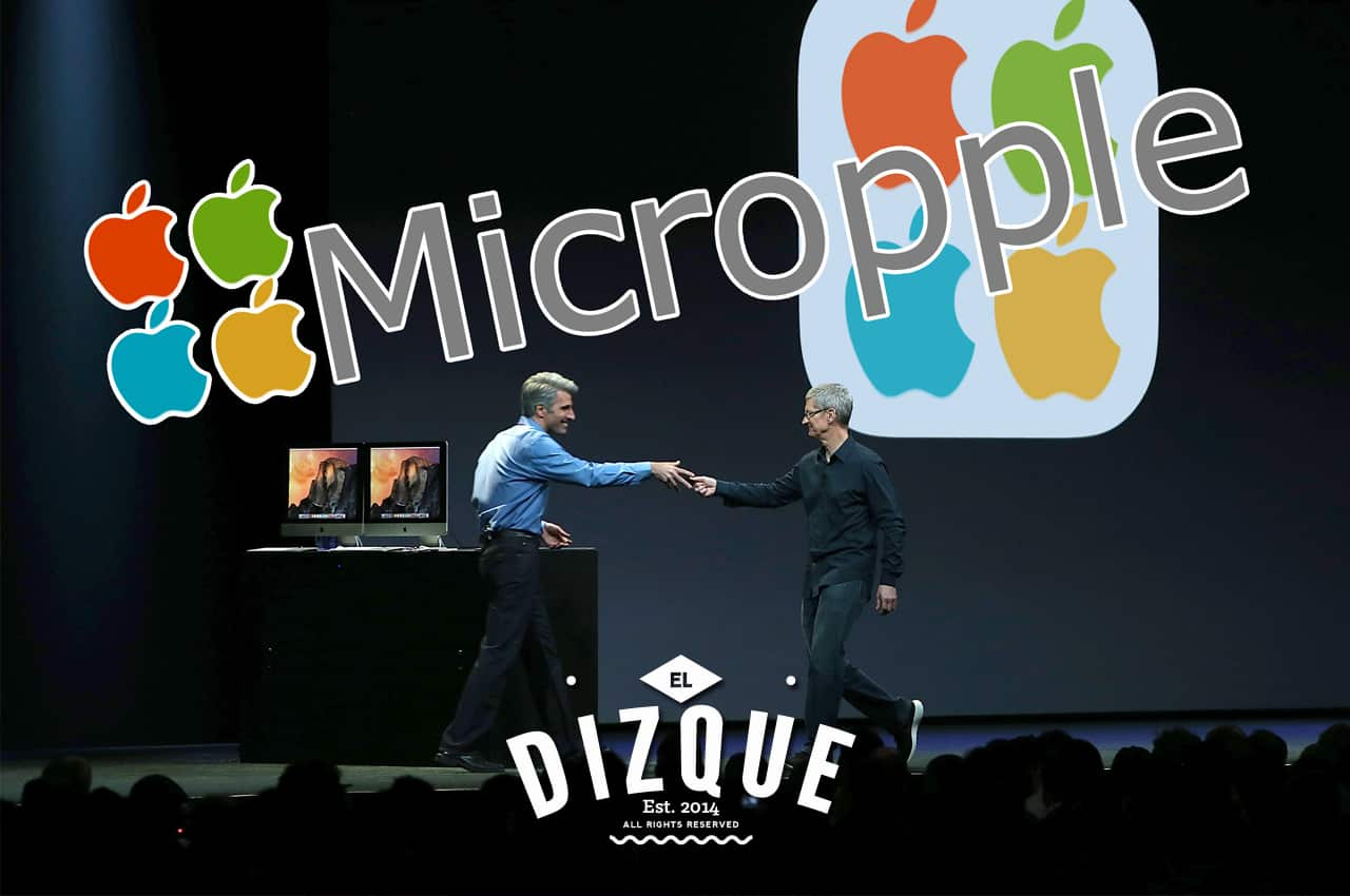 De la fusión de Microsoft y Apple, surge Micropple 1