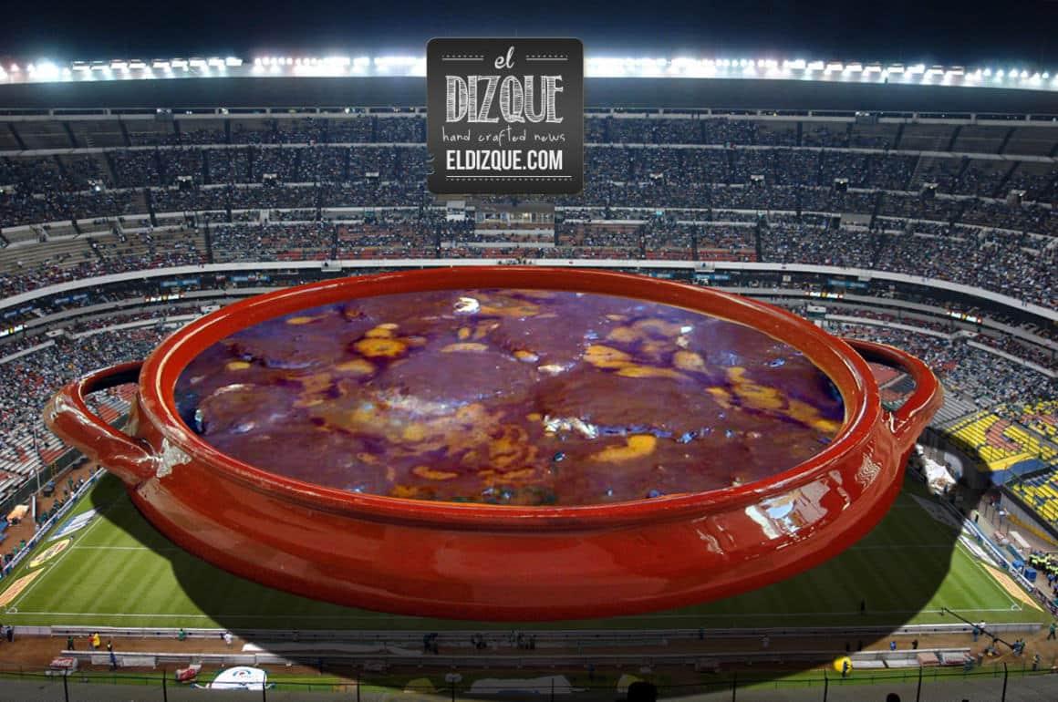 Preparan en el Estadio Azteca la cazuela de romeritos más grande del mundo 10