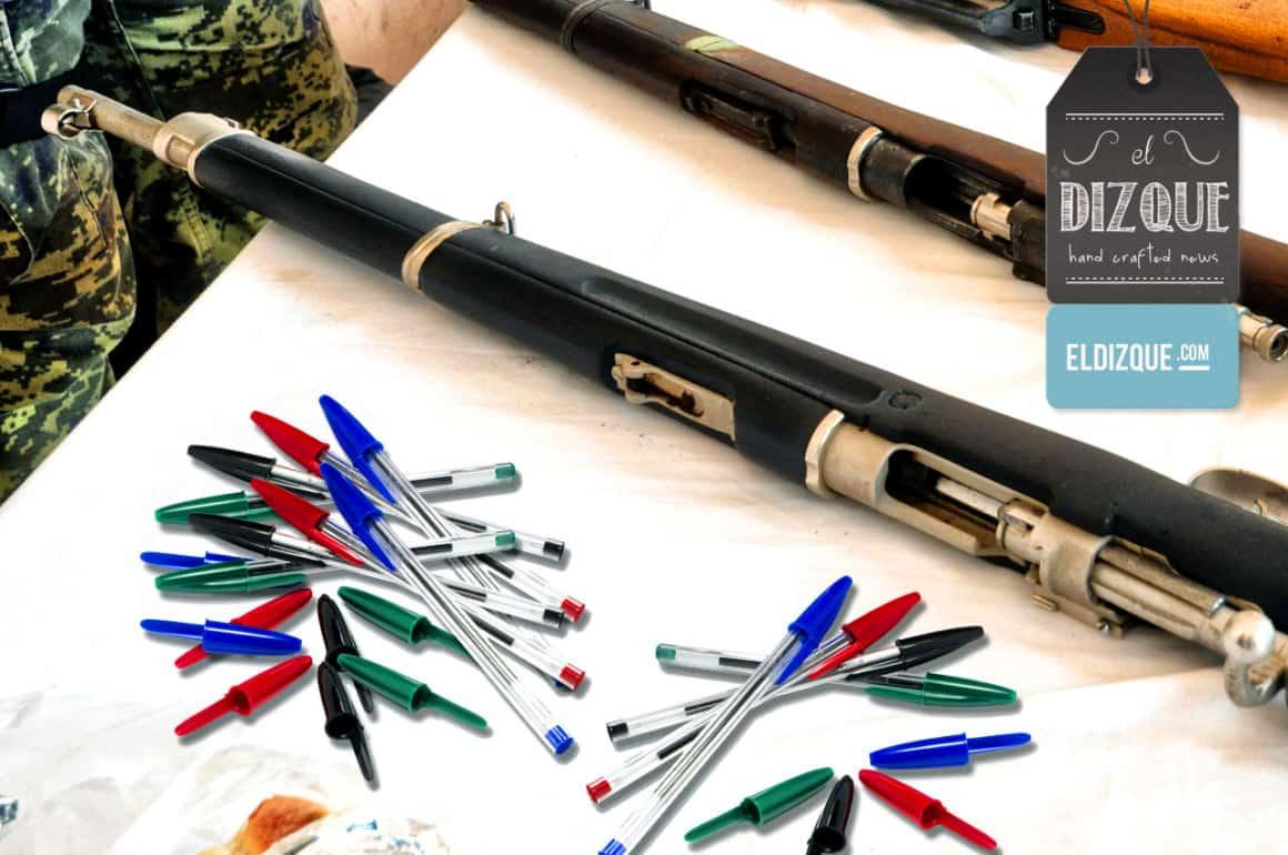 Los bolígrafos Bic requeriran licencia de portación de armas 6