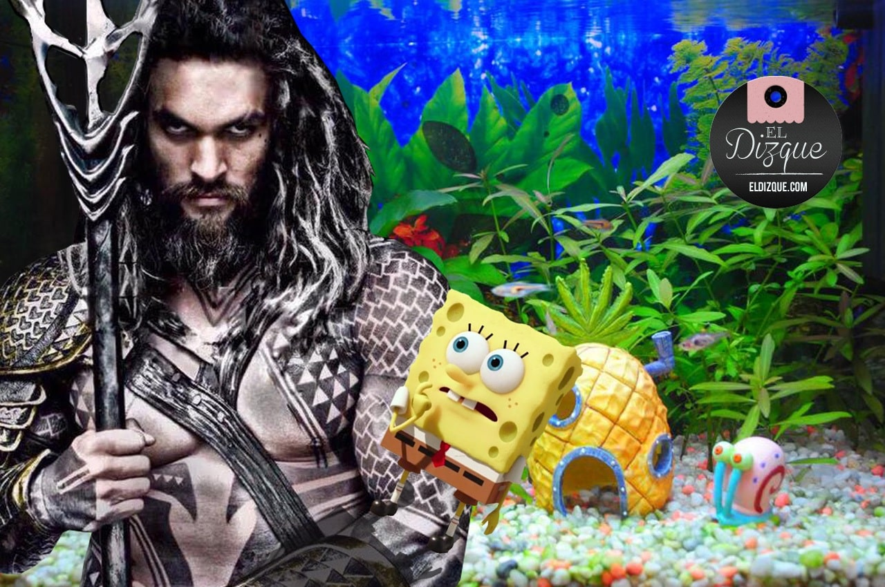 Para incrementar la popularidad de Aquamán, preparan crossover con Bob Esponja 3