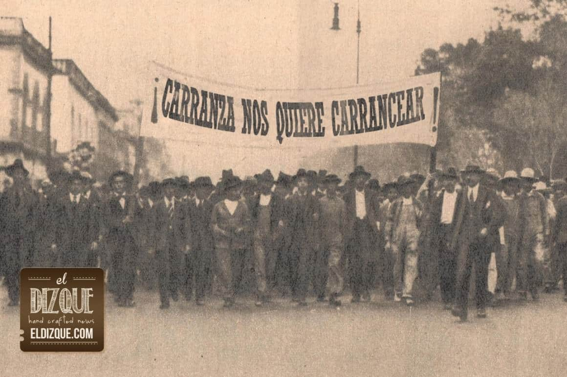 Los obreros piden al presidente Carranza que se promulgue hasta mañana la Constitución 1