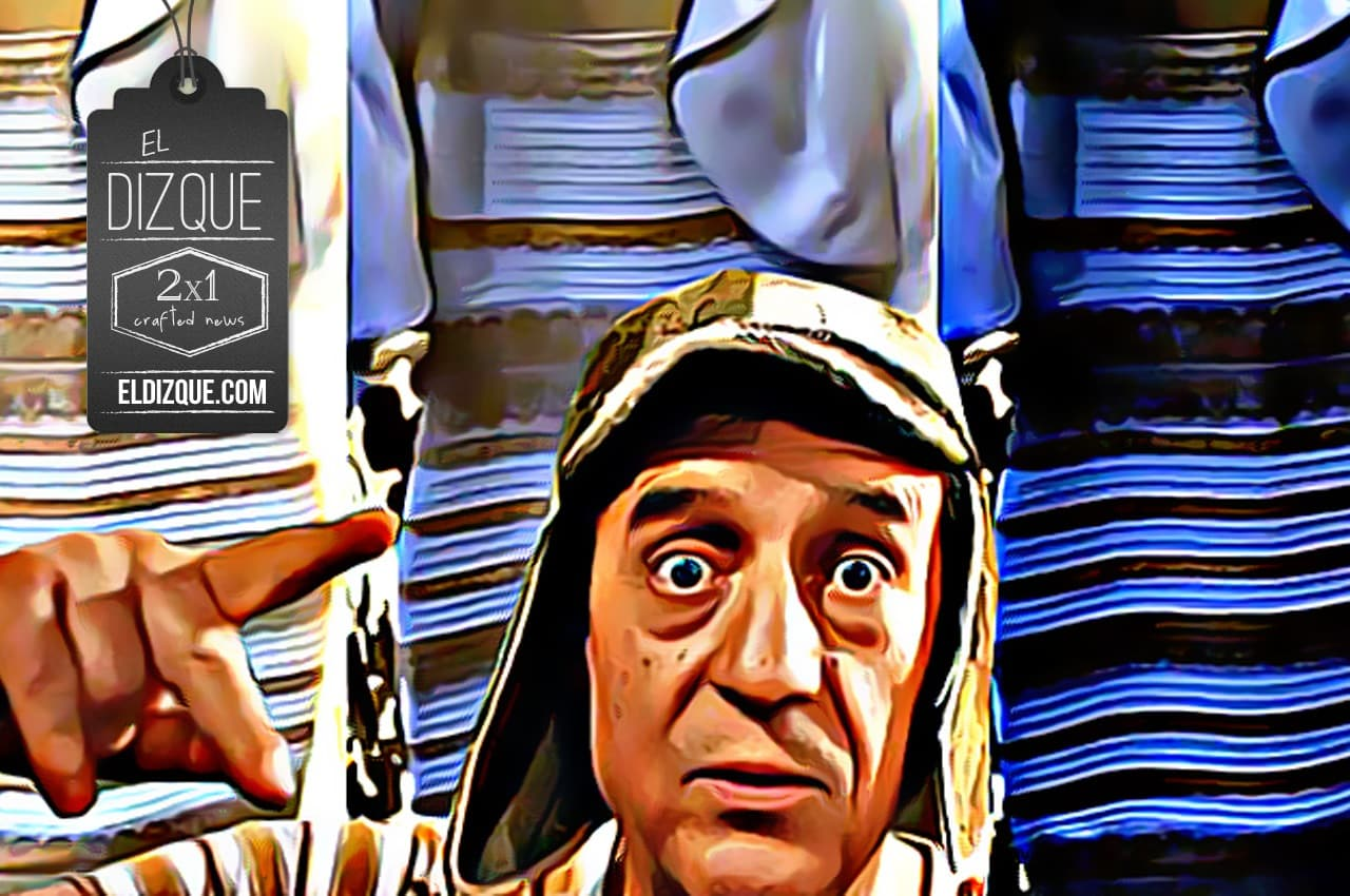 El Chavo del Ocho habría diseñado el polémico vestido que cambia de color, revelan 4