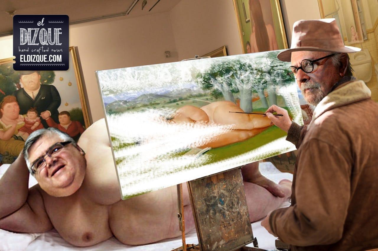 Agustín Carstens aceptó posar desnudo para la obra maestra de Botero 1