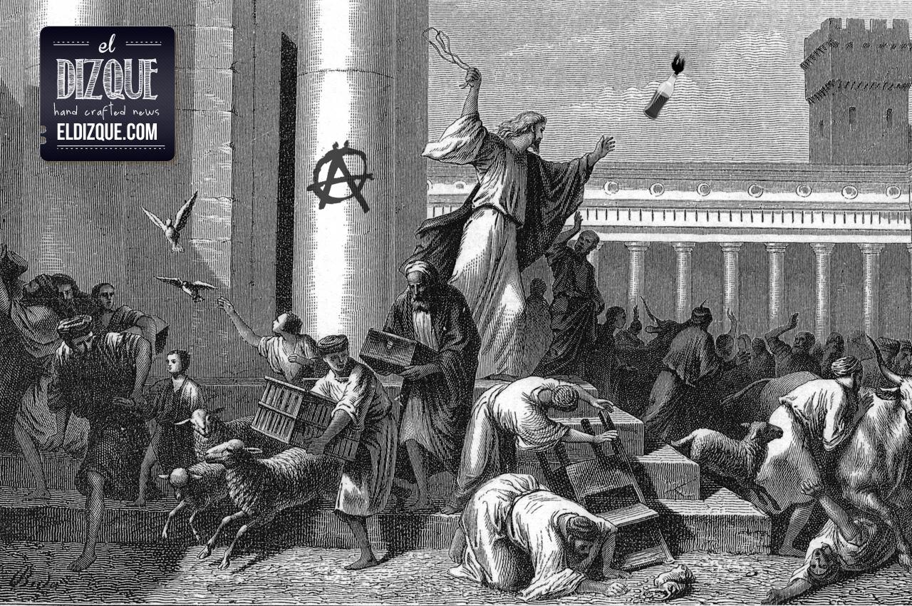 """""""Jesús N."""" fue el anarquista responsable de los disturbios en el Templo, afirma la Procuraduría de Jerusalén 8"""