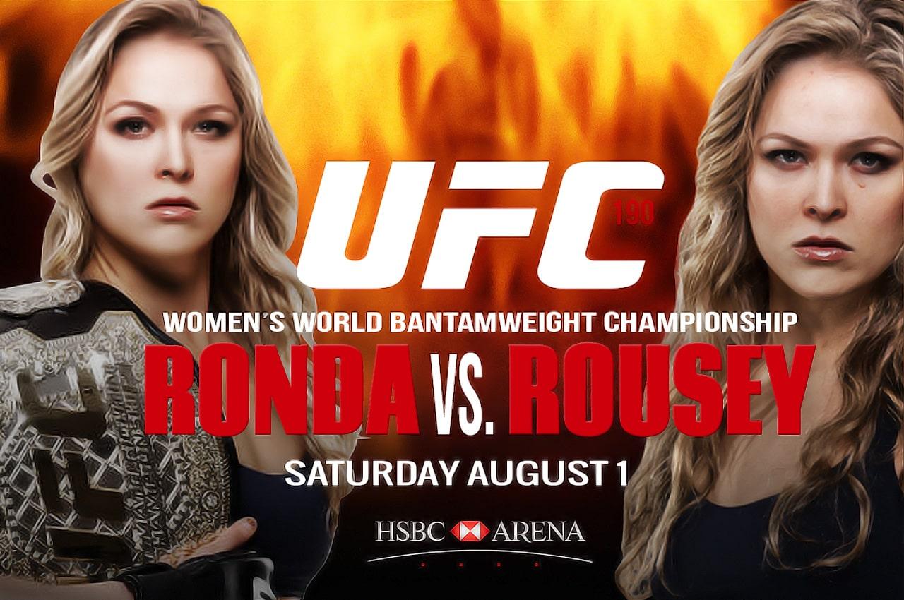 Cambios en UFC 190: La pelea estelar será Ronda vs. Rousey 5