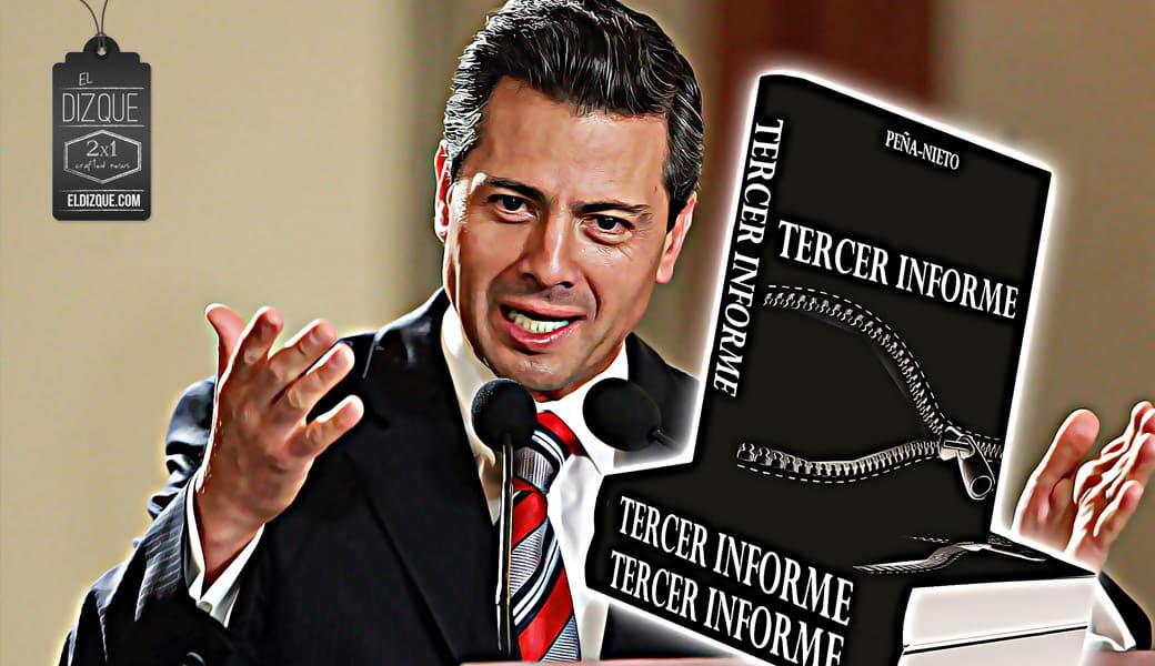 Otorgan premio a mejor texto de ficción al Tercer Informe de Gobierno de Peña Nieto 2
