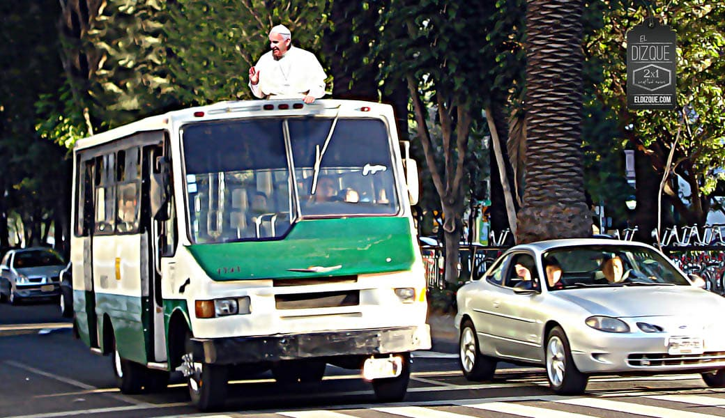 Para la visita del papa Francisco, adaptarán como papamóvil un microbus de la Ruta 1 3