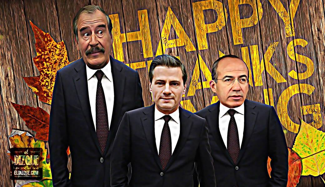 Peña Nieto, Fox y Calderón se unen para enviar un mensaje en el Día de Acción de Gracias 1
