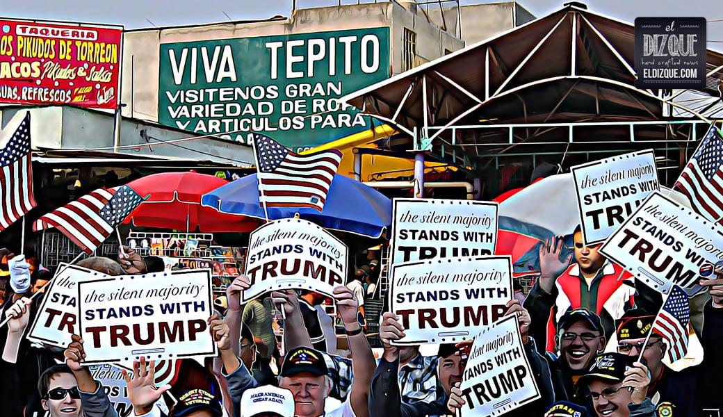 Los comerciantes de Tepito, felices con el triunfo de Donald Trump 12
