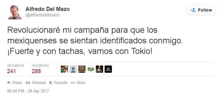 """""""Fuerte y con tachas"""", el nuevo eslogan de Del Mazo para atraer votantes en Ecatepec 2"""