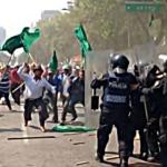 Chocan en la Ciudad de México granaderos y manifestantes contra el eclipse solar 4