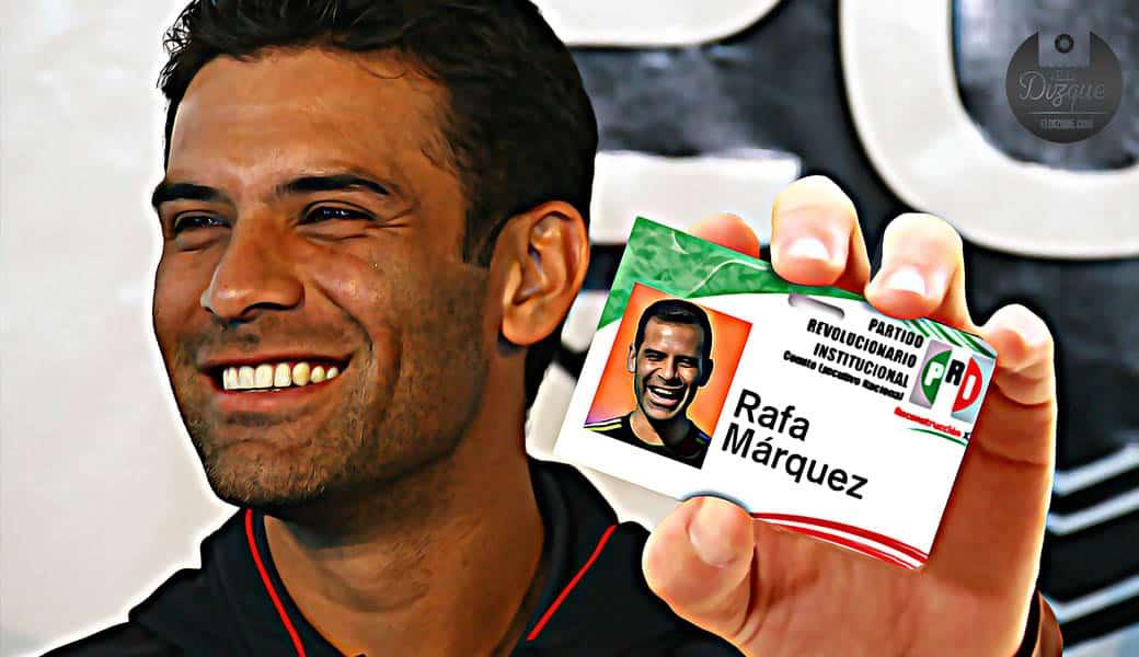 Rafa Márquez se afilia al PRI — Se esfuman todos los cargos en su contra 1