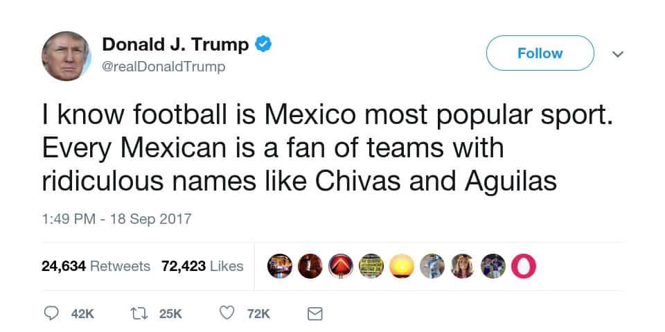 Trump castigará a México: Cancelará todas las transmisiones de la NFL 2