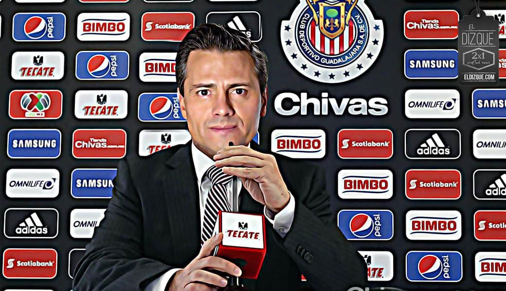 Enrique Peña Nieto pide solidaridad con las Chivas del Guadalajara. 1