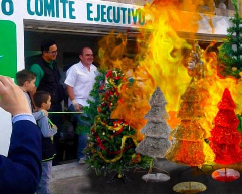 El Partido Verde Ecologista decomisará árboles de navidad sintéticos 3