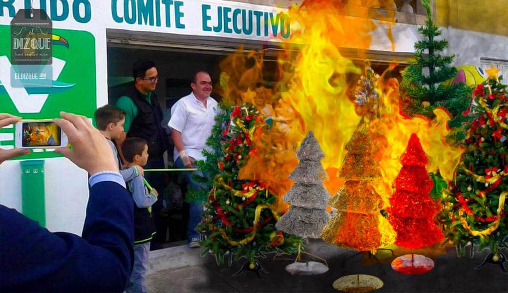 El Partido Verde Ecologista decomisará árboles de navidad sintéticos 1