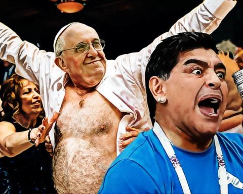 Maradona y el papa Francisco se fueron de parranda tras el partido de Argentina 2