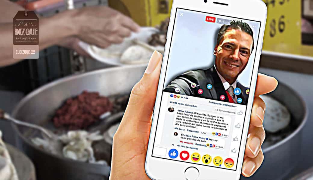 El último Informe de Gobierno de EPN se realizará vía Facebook Live 1