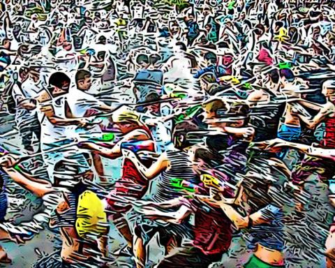 Estalla guerra de agua dentro del metro de la Ciudad de México 1