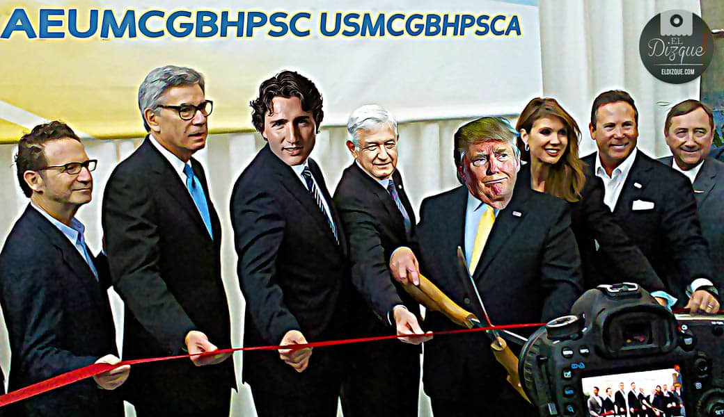El acuerdo comercial USA-México-Canadá podría pasar a llamarse AEUMCGBHPSC 6