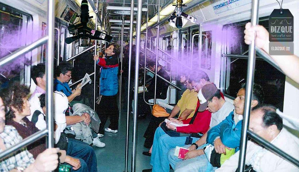 Metro de la Ciudad de México anuncia un servicio de aspersor de perfume 1