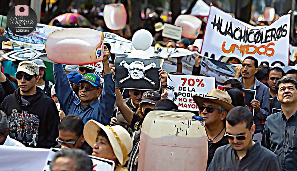 Huachicoleros organizan marcha al Zócalo para protestar contra AMLO 6