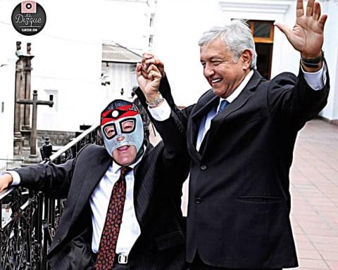 AMLO reconoce a Octagón como el líder sindical paradigmático