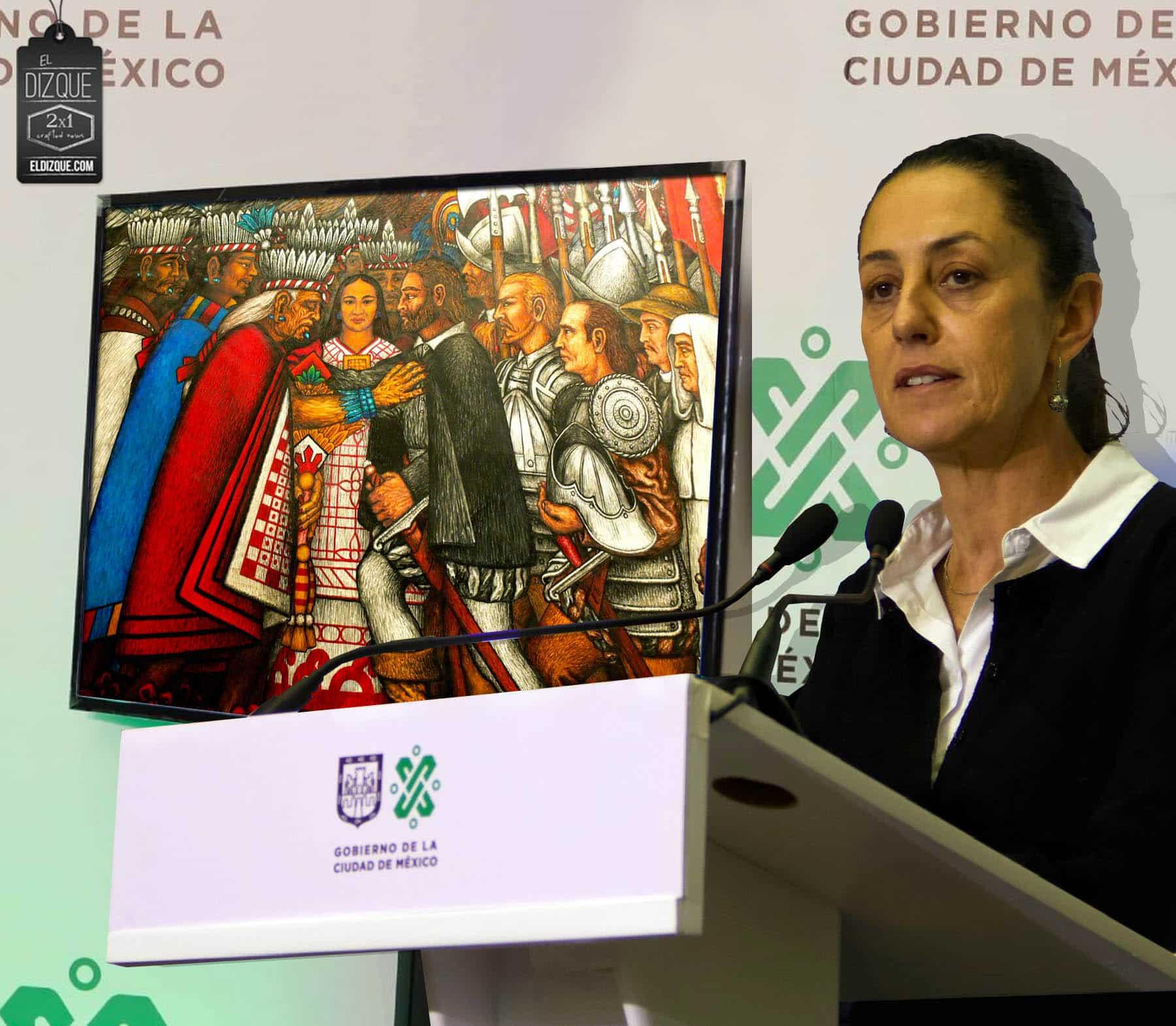 Claudia Sheinbaum exige disculpas a Tlaxcala por sus acciones durante la conquista