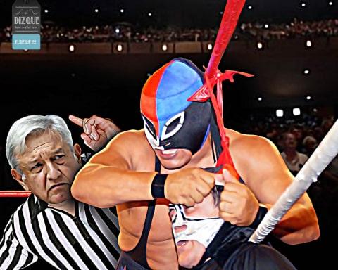 AMLO exige a Fuerza Guerrera que se disculpe con Octagón por amarrarlo de las cuerdas.