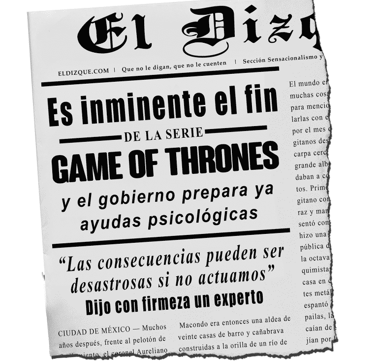 Se preparan ayudas psicológicas para el final de Game of Thrones