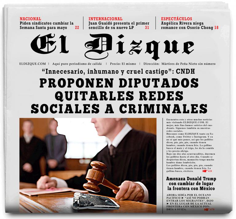 Proponen diputados quitarles redes sociales a criminales
