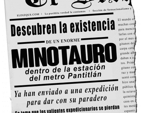 Descubren la existencia de un minotauro en la terminal del metro Pantitlán