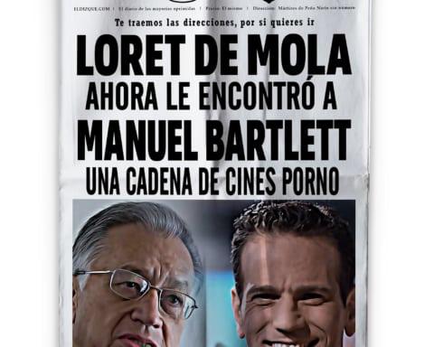 Carlos Loret de Mola y Manuel Bartlett