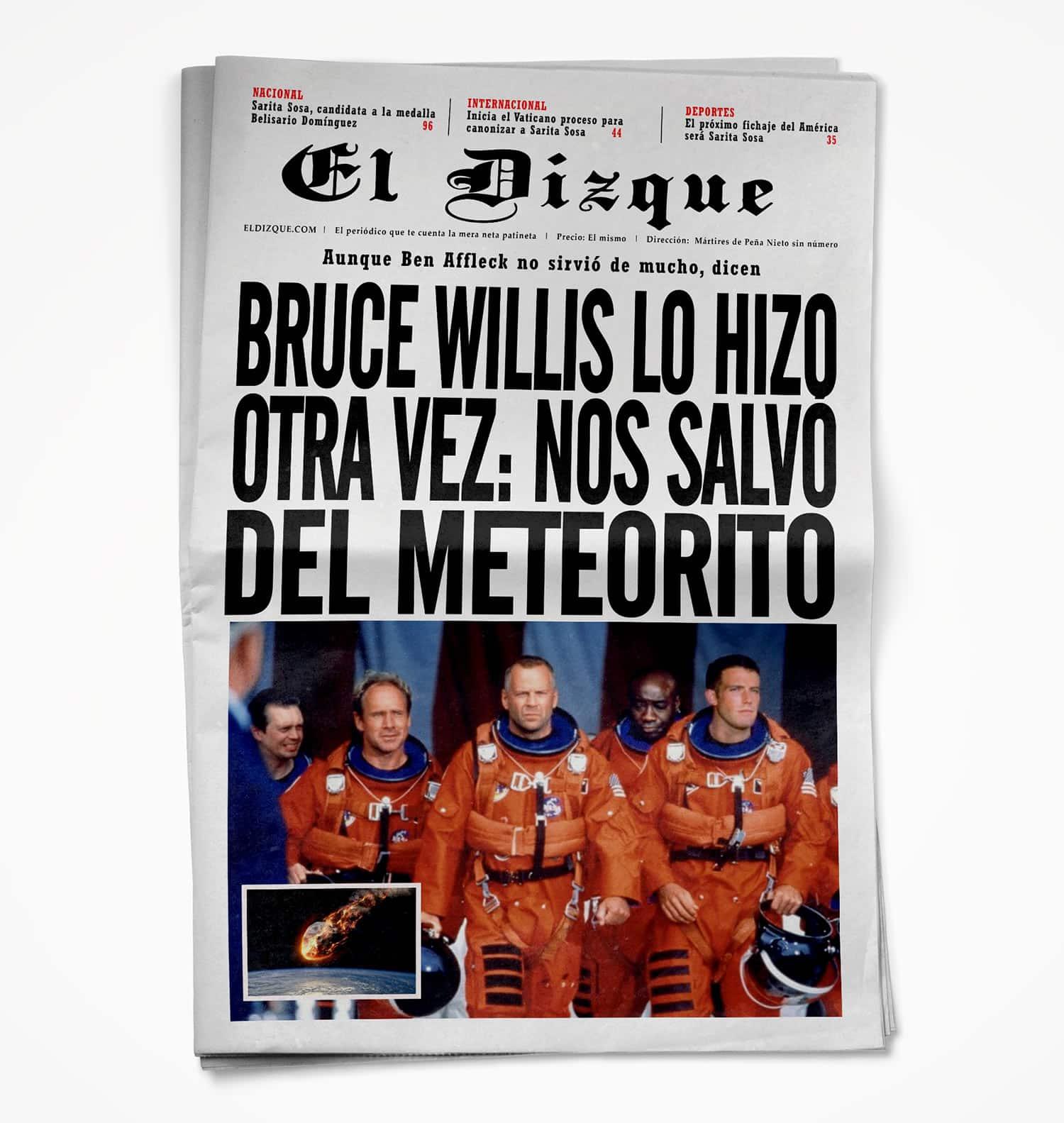 Bruce Willis lo hizo otra vez: Nos salvó del meteorito 1