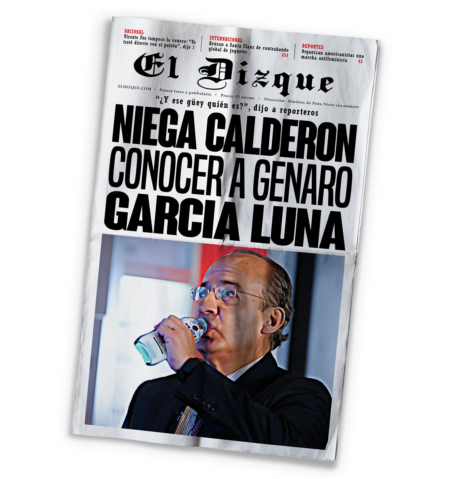 Felipe Calderón y Genaro García Luna