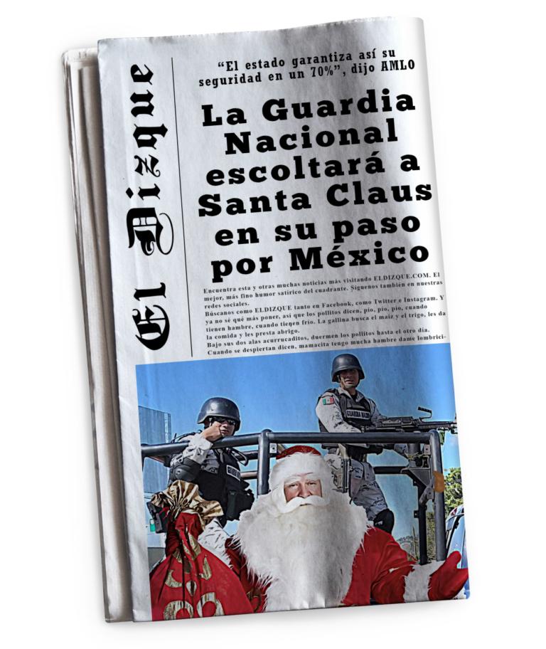 La Guardia Nacional escoltará a Santa Claus