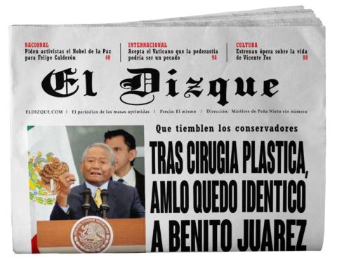 AMLO quedó idéntico a Benito Juárez