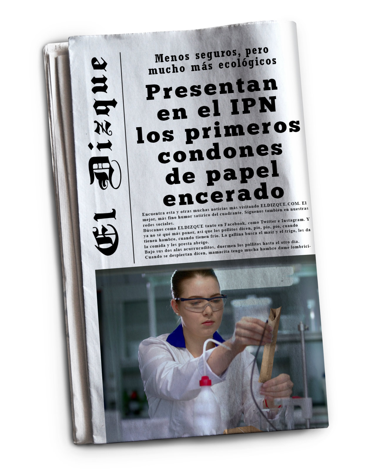 Presentan en el IPN los primeros condones de papel encerado
