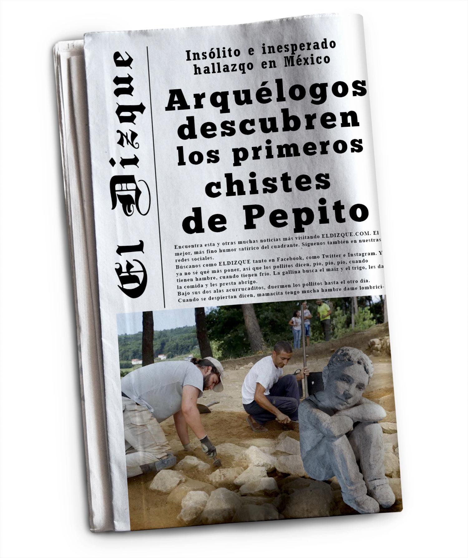 Los primeros chistes de Pepito: Insólito hallazgo arquelógico