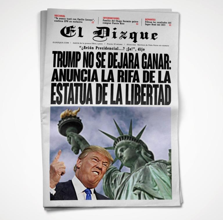 Donald Trump rifará la Estatua de la Libertad