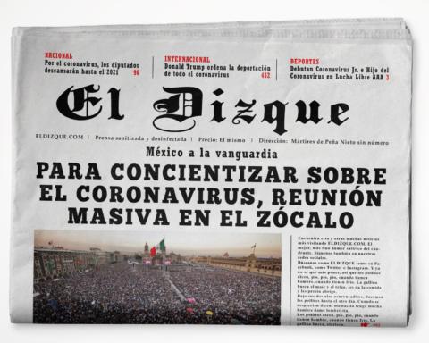 Para concientizar sobre el coronavirus, reunión masiva en el Zócalo