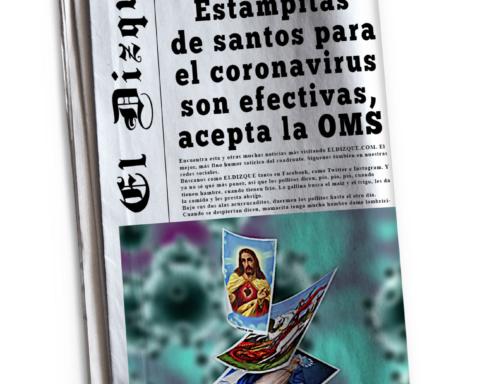 Estampitas de santos para el coronavirus