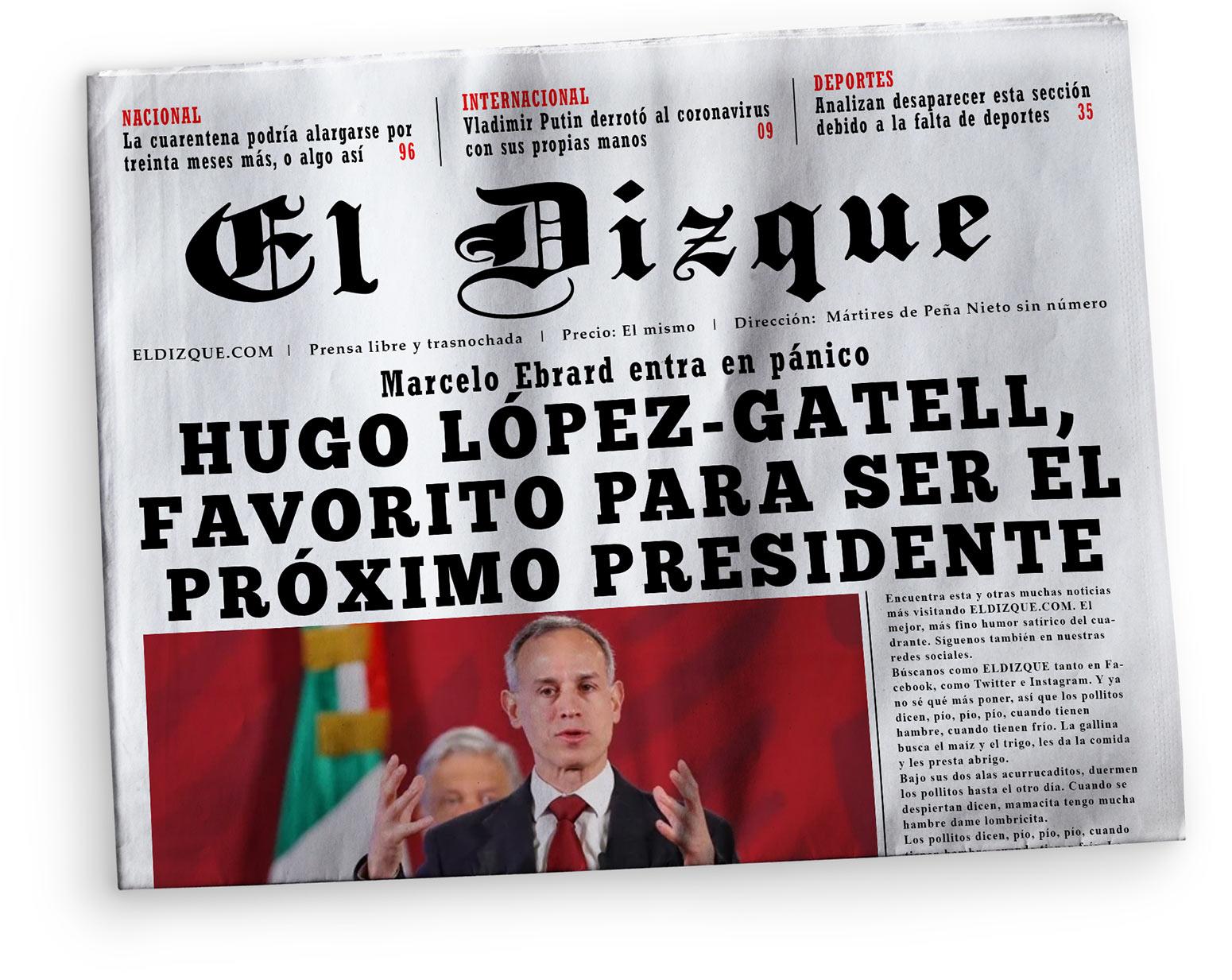 Hugo López-Gatell, favorito para ser el próximo presidente de México