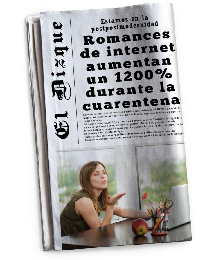 Romances de Internet aumentan un 1200% durante la cuarentena