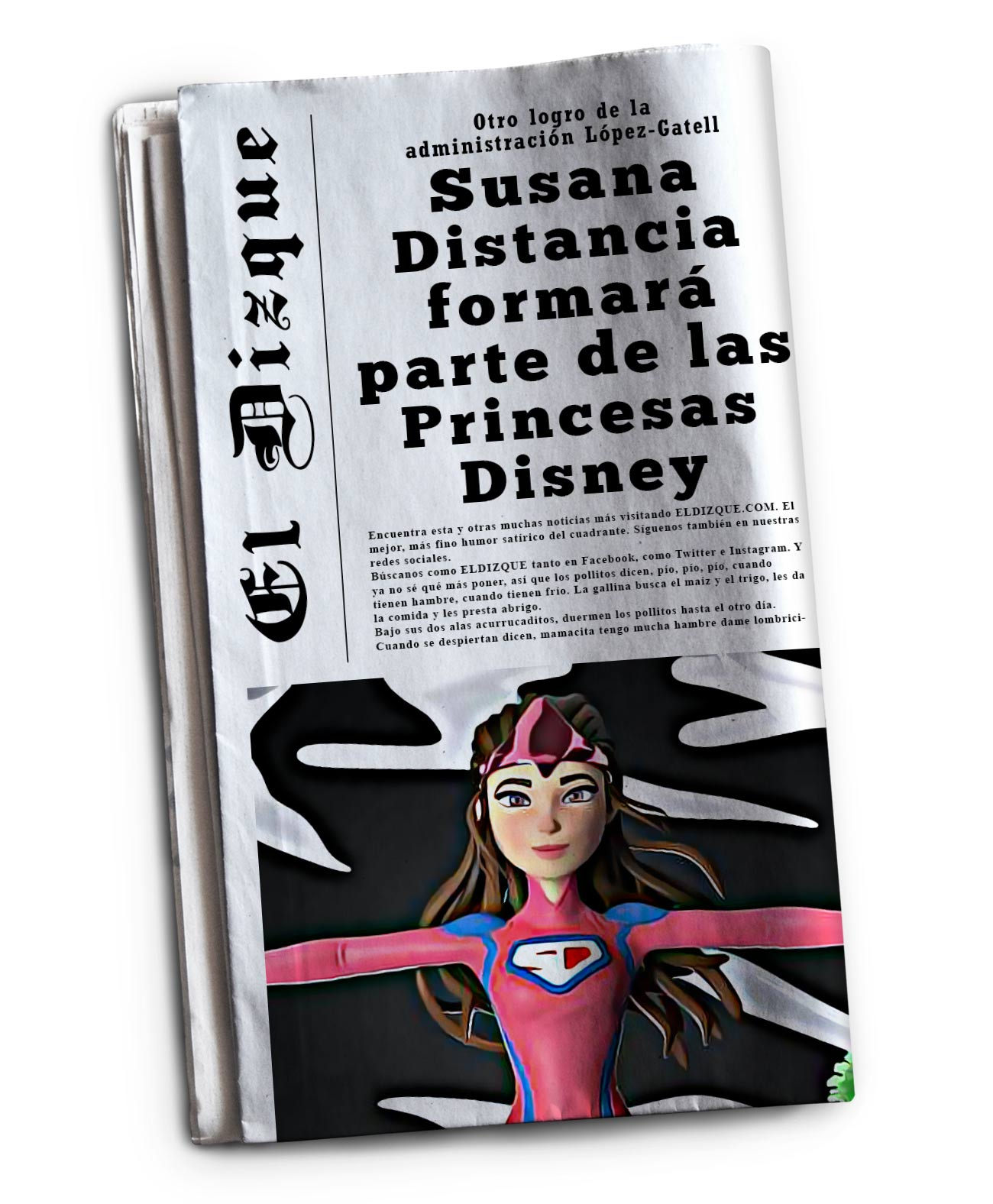 Susana Distancia formará parte de las Princesas Disney