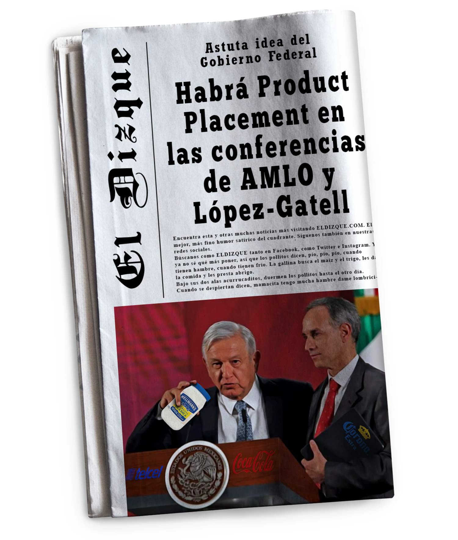 Habrá Product Placement en las conferencias de AMLO y López-Gatell 7