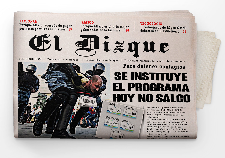 """Se instituye el programa """"Hoy no Salgo"""""""