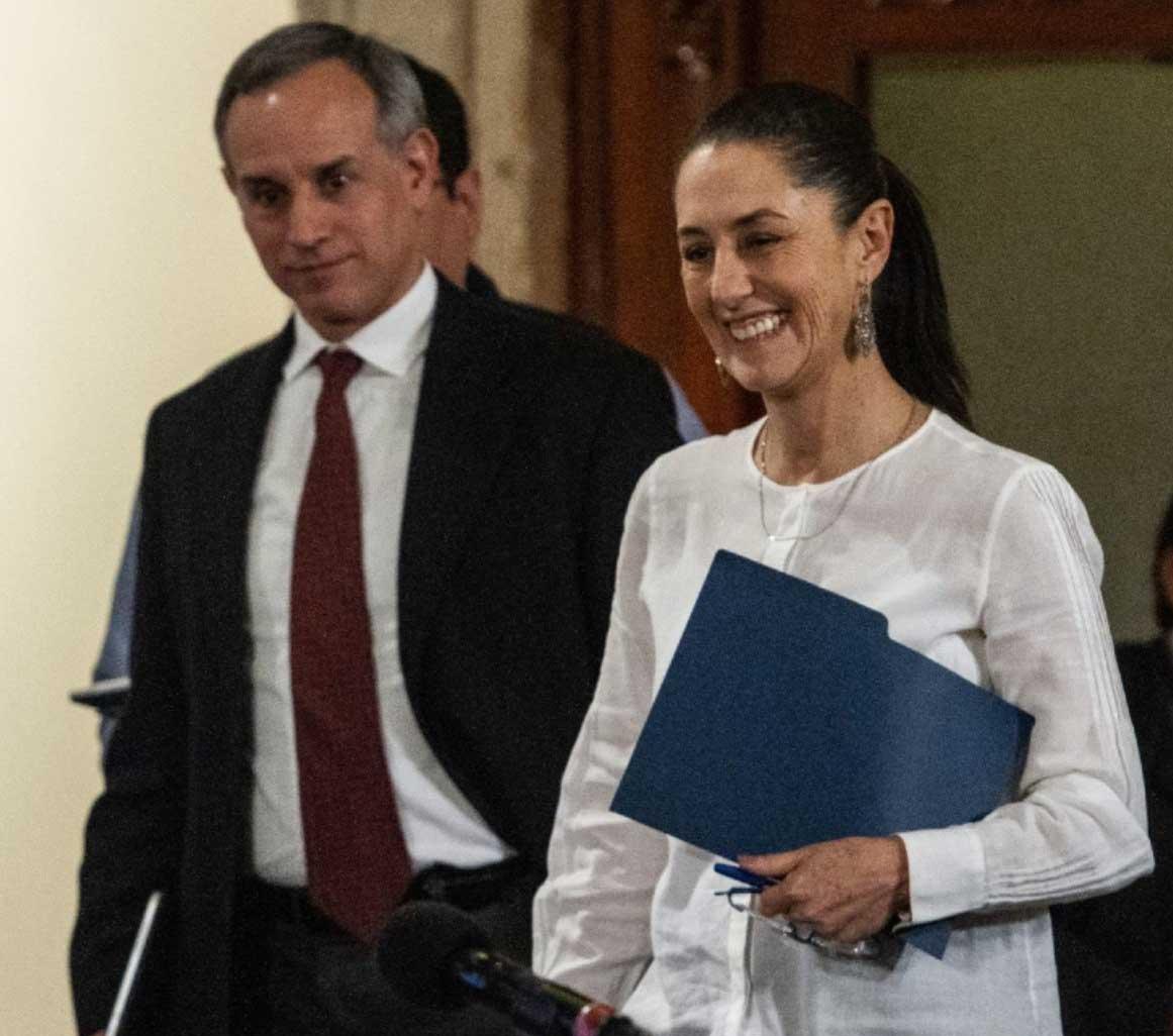 Hugo López-Gatell y Claudia Sheinbaum